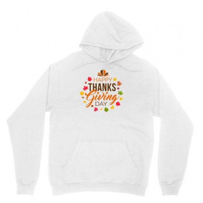 Happy Thanks Giving Day Unisex Hoodie Designed By D'metra