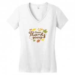 Happy Thanksgiving Women's V-Neck T-Shirt | Artistshot