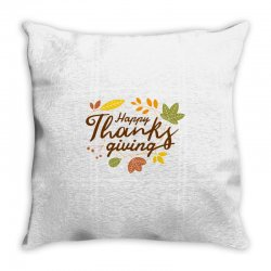 Happy Thanksgiving Throw Pillow Designed By Mdtees