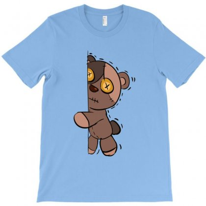 Zombie Bear Fear Expression T-shirt Designed By Ainazee Tees