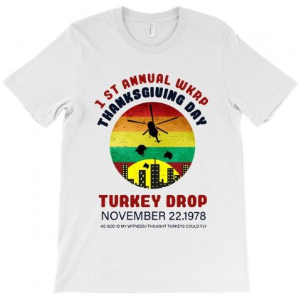 First Anuual  Wkrp Thanksgiving Day Turkey Drop T-shirt Designed By Ainazee Tees