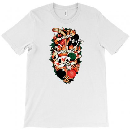 Love The Game T-shirt Designed By Ronart
