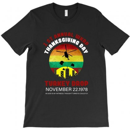 First Anuual Wkrp Turkey Drop T-shirt Designed By Ainazee Tees