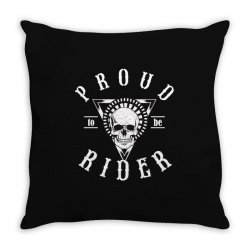 proud to be rider Throw Pillow | Artistshot