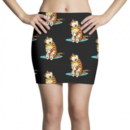 Calvin And Hobbes Hug Mini Skirts Designed By Rakuzan