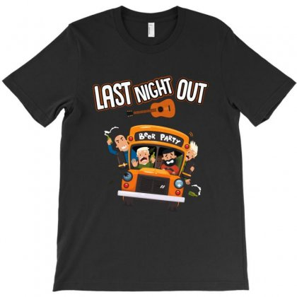 Last Night Out Beer Party T-shirt Designed By Ainazee Tees