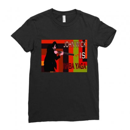 Jon Wick Poster 01 01 Ladies Fitted T-shirt Designed By Abk73