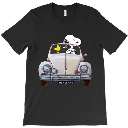 Snoopy Is Driving A Car T-shirt Designed By Kakashop