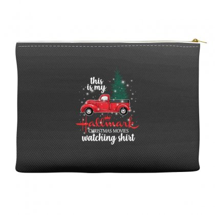 This Is My Hallmark Christmas Movies Watching Shirt For Dark Accessory Pouches Designed By Sengul