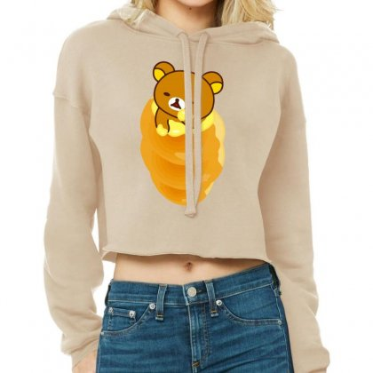 Rilakkuma Rila Head Cropped Hoodie Designed By Coolstars