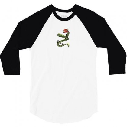 Chinese Dragon 3/4 Sleeve Shirt Designed By Demiandan