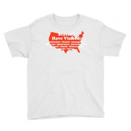 States I Have Visited Youth Tee Designed By Royart
