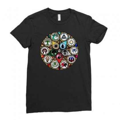 Magic The Gathering Ladies Fitted T-shirt Designed By Creative Tees