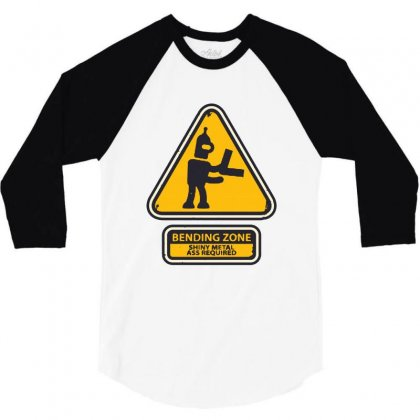 Bending Zone 3/4 Sleeve Shirt Designed By Creative Tees
