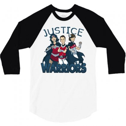 Supreme Justice Warriors 3/4 Sleeve Shirt Designed By Royart
