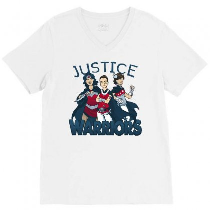 Supreme Justice Warriors V-neck Tee Designed By Royart