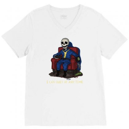 Sure You Can V-neck Tee Designed By Royart