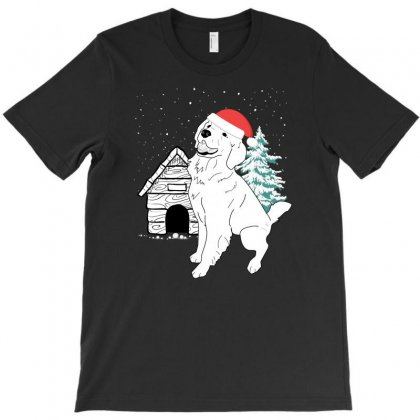Christmas Dog T-shirt Designed By Gurkan