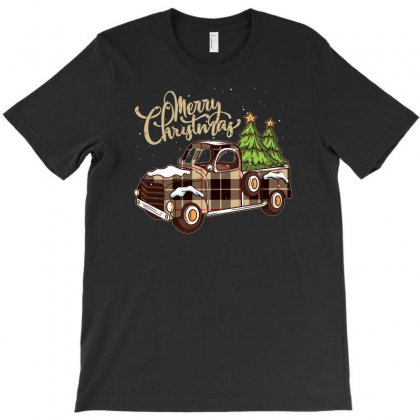 Merry Christmas Pickup T-shirt Designed By Gurkan