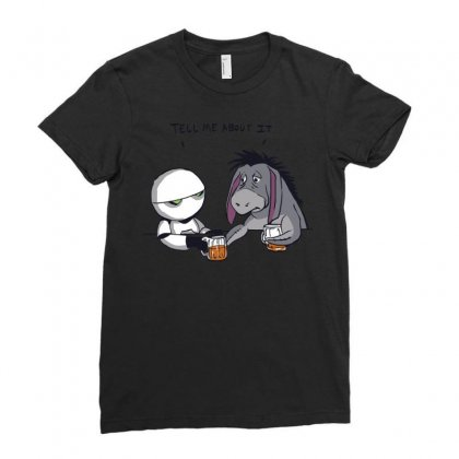 Tell Me About It Ladies Fitted T-shirt Designed By Royart