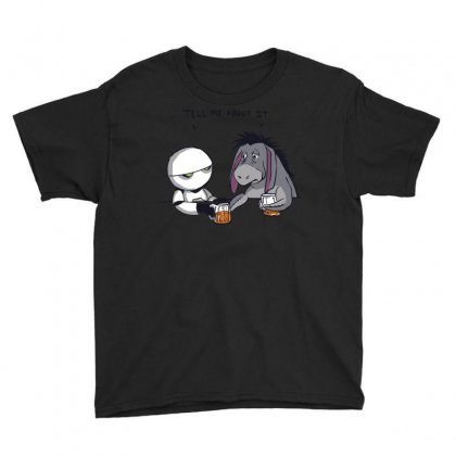 Tell Me About It Youth Tee Designed By Royart