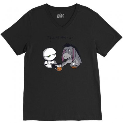 Tell Me About It V-neck Tee Designed By Royart