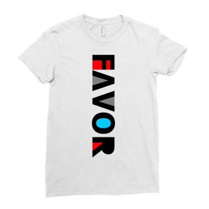 Favor Black Ladies Fitted T-shirt Designed By Onat