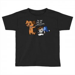 the kid ate my homework Toddler T-shirt | Artistshot