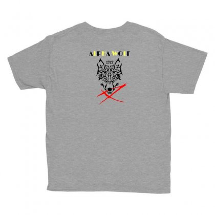 Alpha Wolf 17 Youth Tee Designed By Nalphard