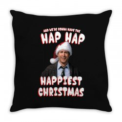 and we're conna have the hap hap happiest christmas Throw Pillow | Artistshot