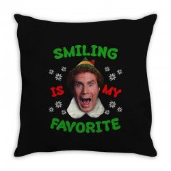 smiling is my favorite Throw Pillow | Artistshot