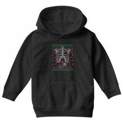 skeleton baby christmas ugly Youth Hoodie | Artistshot