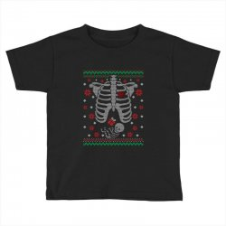 skeleton baby christmas ugly Toddler T-shirt | Artistshot