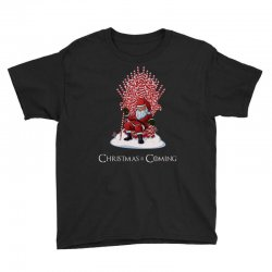 christmas is coming santa candy cane throne Youth Tee | Artistshot