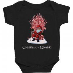 christmas is coming santa candy cane throne Baby Bodysuit | Artistshot