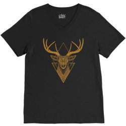 dark deer graphic abstract V-Neck Tee | Artistshot