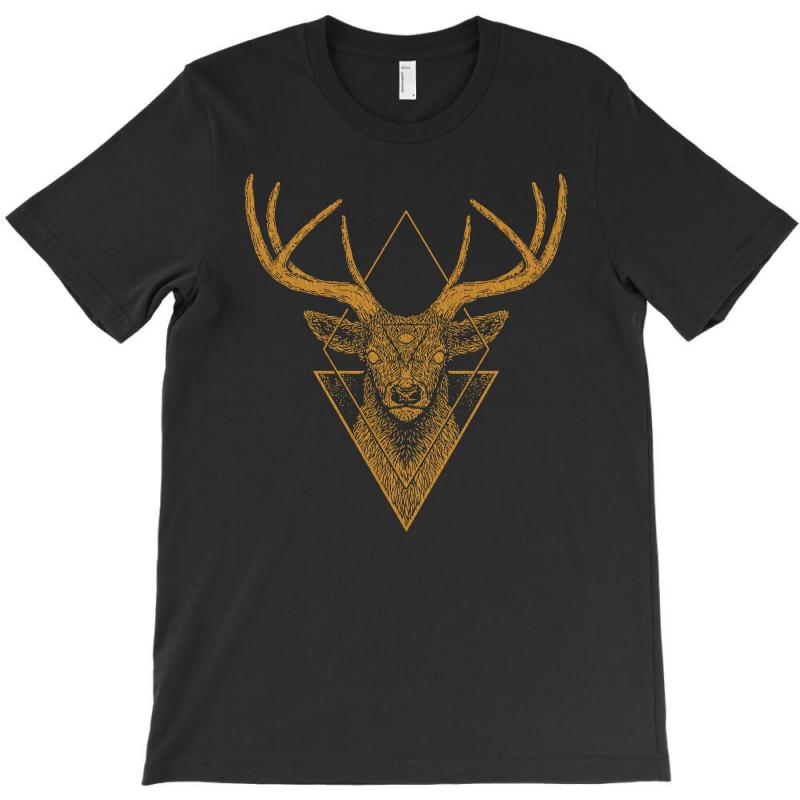 Dark Deer Graphic Abstract T-shirt | Artistshot