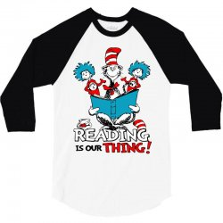 reading is our thing 3/4 Sleeve Shirt   Artistshot