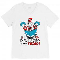 reading is our thing V-Neck Tee   Artistshot
