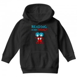 reading is our thing Youth Hoodie | Artistshot