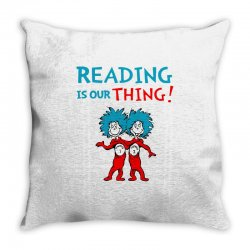 reading is our thing Throw Pillow | Artistshot