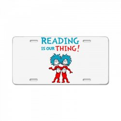 reading is our thing License Plate | Artistshot