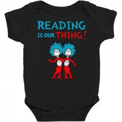 reading is our thing Baby Bodysuit | Artistshot
