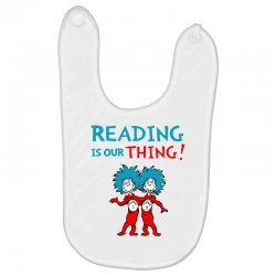 reading is our thing Baby Bibs | Artistshot