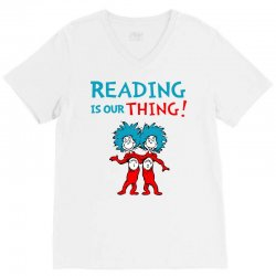 reading is our thing V-Neck Tee | Artistshot