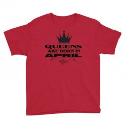 april birthday gifts for ladies   queens are born in april Youth Tee | Artistshot