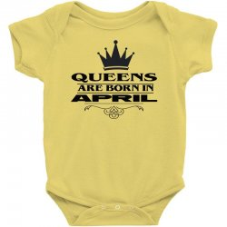 april birthday gifts for ladies   queens are born in april Baby Bodysuit | Artistshot