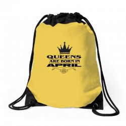 april birthday gifts for ladies   queens are born in april Drawstring Bags | Artistshot