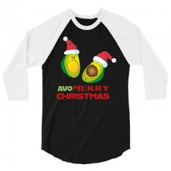avocado   avo merry christmas 3/4 Sleeve Shirt | Artistshot