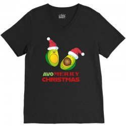 avocado   avo merry christmas V-Neck Tee | Artistshot